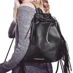 Victoria's Secrets Fringed Backpack Shoulder Bag